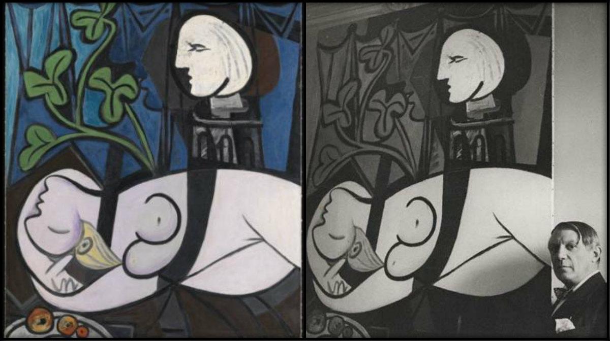 """Пабло Пикасо, и една от най-скъпите му картини - """"Гола жена, бюст и зелени листа"""""""