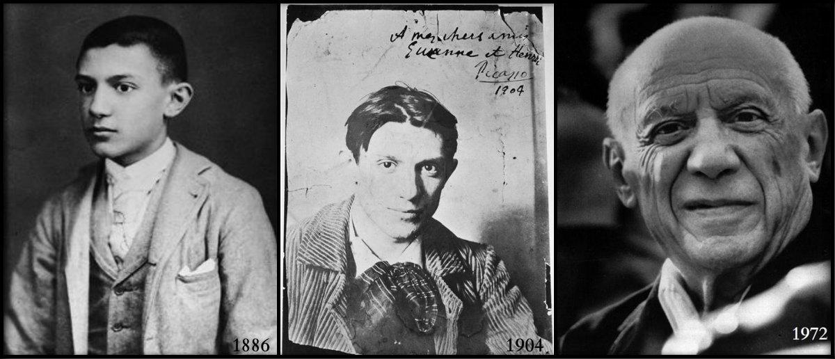 Пабло Пикасо през годините.