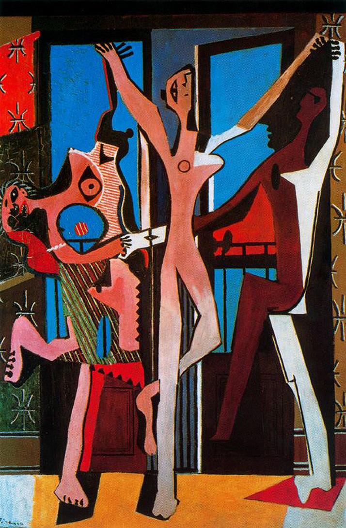 """""""La Dance"""" - """"Танцът"""", 1925 г. Сюрреалистичен период на Пабло Пикасо."""