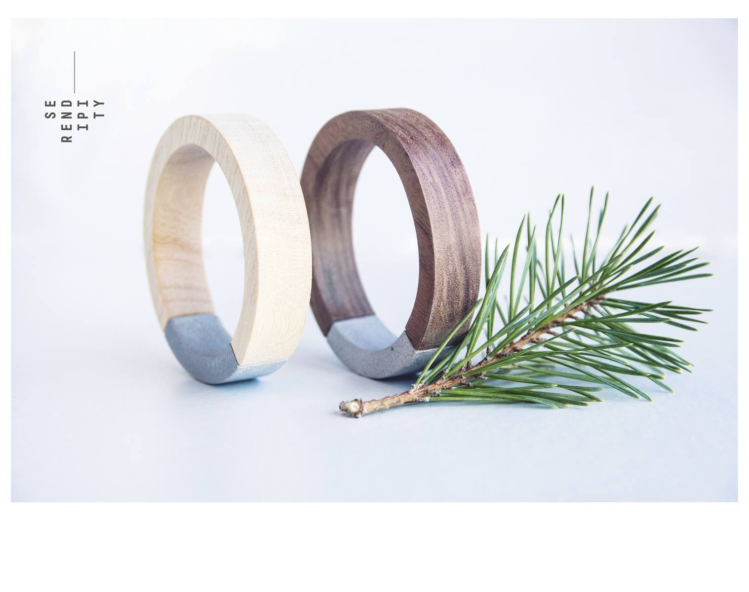 bangles collection: betoniño material: concrete, koto and pecan wood Дизайн: Катерина Сербезова